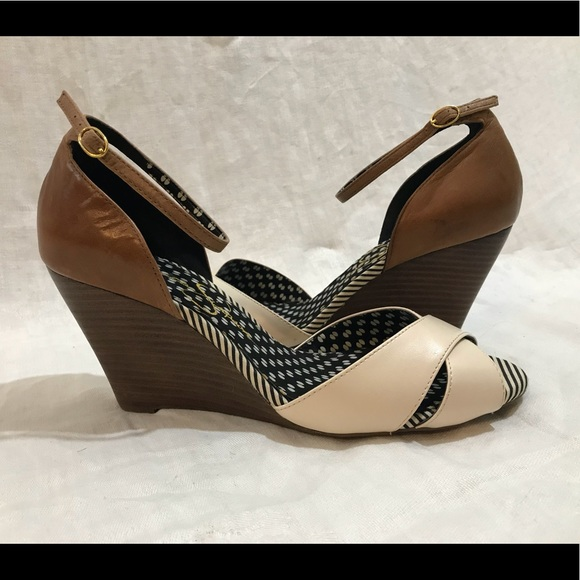 Jessica Simpson Shoes Tancream Wedge Sandals 85 Poshmark